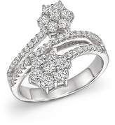 Bloomingdale's Diamond Flower Bypass Ring in 14K White Gold, 1.10 ct. t.w. - 100% Exclusive