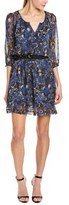 Charlotte Ronson Floral Silk A-line Dress.