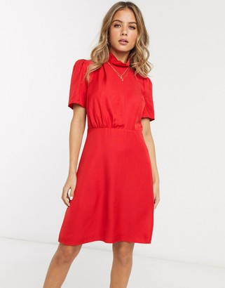French Connection high neck mini skater dress