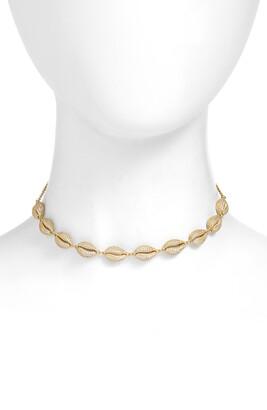 Adina's Jewels Adina's Pave Shell Choker Necklace