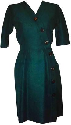 Saint Laurent Green Silk Dresses