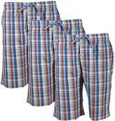 Godsen Men's 3 Pack Cotton Lounge Sleep Shorts /Pajama Pants (XL, )