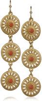Gold-filigree drop earrings