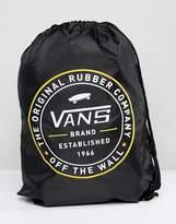 Vans League Drawstring Backpack In Black V002W6BLK