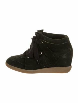Etoile Isabel Marant Suede Wedge Sneakers Black