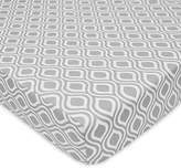 American Baby Company 100% Cotton Percale Fitted Crib Sheet, Gray Ogee by