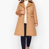 Talbots Fur-Trimmed Wool Coat