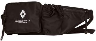 Marcelo Burlon County of Milan Waist Bag With Print In Black