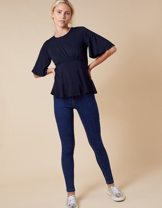 Under Armour Dolly Flute Sleeve Jersey Top Blue