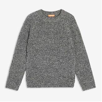 Joe Fresh Kid Boys' Raglan Sleeve Sweater, Dark Charcoal Mix (Size M)