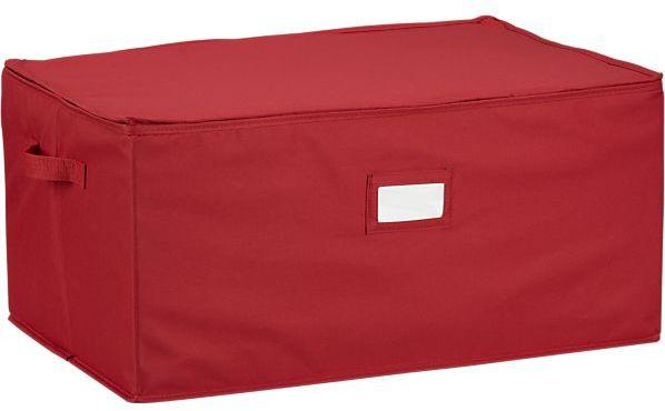 Crate & Barrel Ornament Storage Box