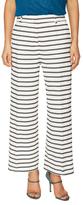 Piazza Sempione Cotton Striped Wide Leg Trouser