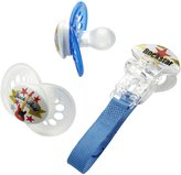 Mam Rock n' Roll Silicone Pacifier - Blue - 2 pack & clip (6+ months)