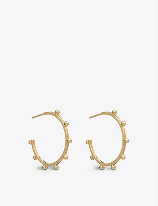 Rachel Jackson Punk 22ct gold-plated silver large hoop earrings