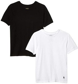 Polo Ralph Lauren Kids 2-Pack Crew Tee (Little Kids/Big Kids) (Polo Black/White) Boy's Pajama