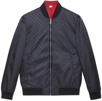 Gucci Reversible GG nylon bomber jacket