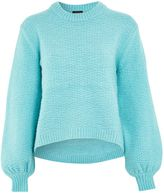 Topshop Textured Balloon Sleeve Jumper