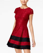 Teeze Me Juniors' Lace Fit and Flare Dress
