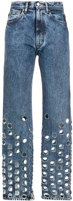 Maison Margiela Perforated Straight-Leg Jeans