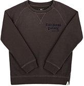 "Scotch Shrunk Blue Boxing Garage"" Cotton Sweatshirt-GREY"