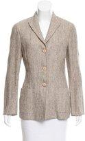 Giorgio Armani Tweed Herringbone Blazer