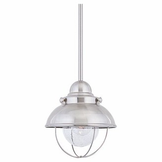 "Beachcrest Home Salvaggio 1-Light LED Pendant Color: Brushed Stainless, Size: 15"" H x 16.75"" W x 16.75"" D"