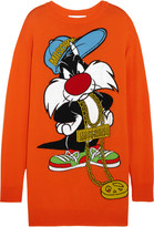 Moschino Sylvester intarsia wool sweater dress