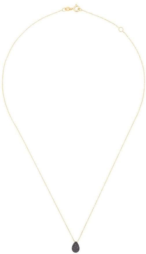 Diane Kordas black diamond teardrop necklace