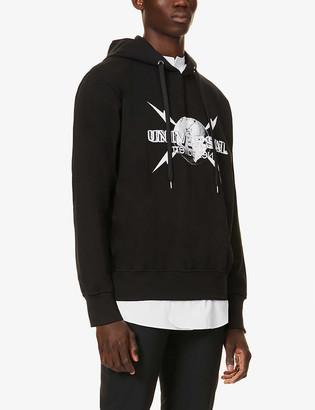 Neil Barrett Universal logo-print cotton-jersey hoody
