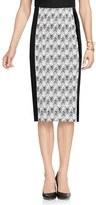 Vince Camuto Women's Herringbone Jacquard Knit Pencil Skirt