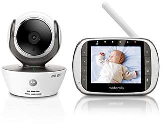 """Motorola MBP853CONNECT Video Baby Monitor with 3.5"""" Handheld Parent Unit and Wi-Fi Hubble Connected App for Smartphones & Tablets"""