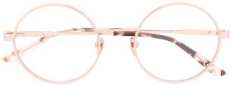 Calvin Klein Thin Round Frame Glasses