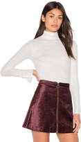Enza Costa Long Sleeve Split Cuff Turtleneck Top