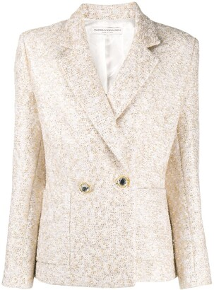 Alessandra Rich Embroidered Fitted Blazer