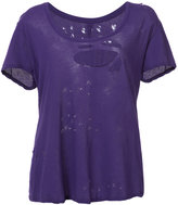 Unravel Project - distressed T-shirt - women - Cotton - XS