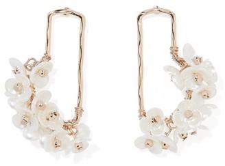 Forever New Elowen Flower Hoop-Drop Earrings - Pearl - 00