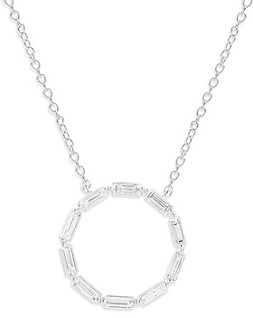 Bloomingdale's Diamond Circle Pendant Necklace in 14K White Gold, 0.5 ct. t.w. - 100% Exclusive