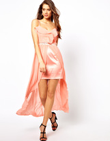Lipsy Hi Lo Maxi Dress with Embellishement