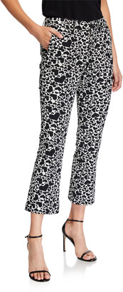 Zadig & Voltaire Heart-Print Boot-Cut Cropped Pants
