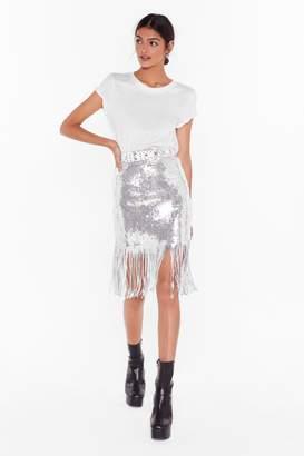 Nasty Gal Womens Studio Into the Groove Sequin Mini Skirt - metallics - S