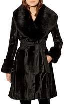 Karen Millen Faux-Fur & Pony Hair Coat