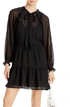 Aqua Ruffled Clip Dot Mini Dress - 100% Exclusive