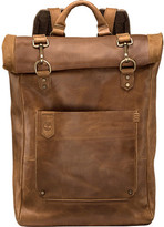Timberland Walnut Hill Leather Roll Top Backpack