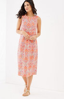 J. Jill Pleated Linen Dress