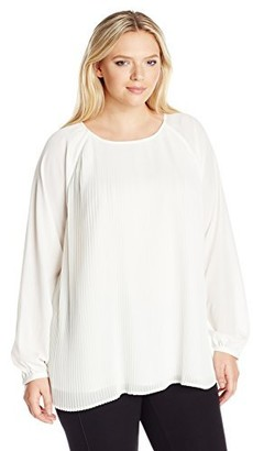 Calvin Klein Women's Plus Size All Over Pleated Top
