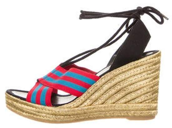 ce8a2bca083 Striped Espadrille Wedges Red Striped Espadrille Wedges