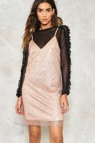Nasty Gal Bring Me the Disco Glitter Slip Dress