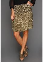 MICHAEL Michael Kors Savannah Leopard Raw Edge Skirt Women's Skirt