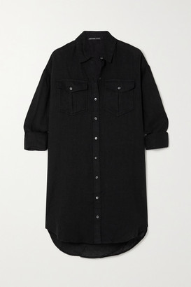 James Perse Linen Shirt Dress - Black