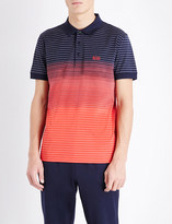 HUGO BOSS Regular-fit striped cotton polo shirt